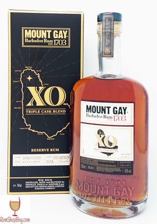 Mount Gay XO Triple Cask Blend Box and Bottle