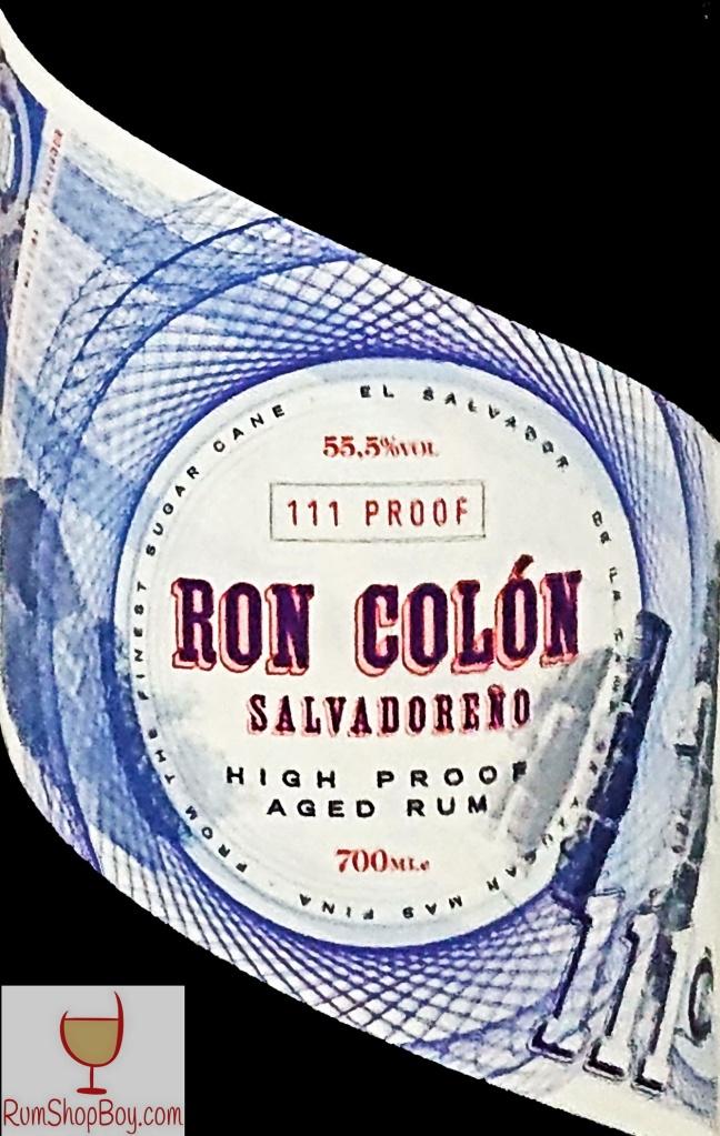 Ron Colón Salvadoreño Rum Label