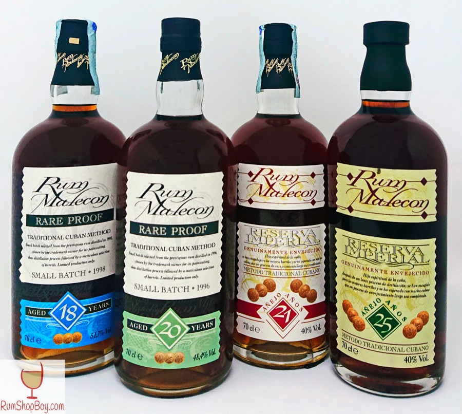 Rum Malecon Rare Proof 20 and Reserva Imperial 25 YearsOld