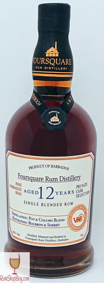 Foursquare 12 Year Old Private Cask Selection / V and B