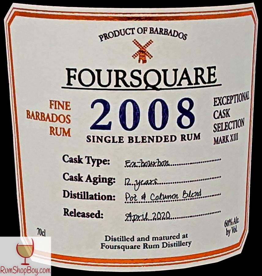 Foursquare 2008 Front Label