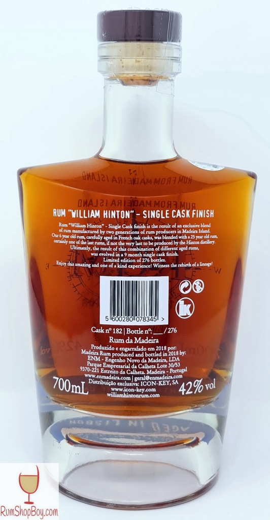 Lisbon Cask Finish Bottle (Rear)