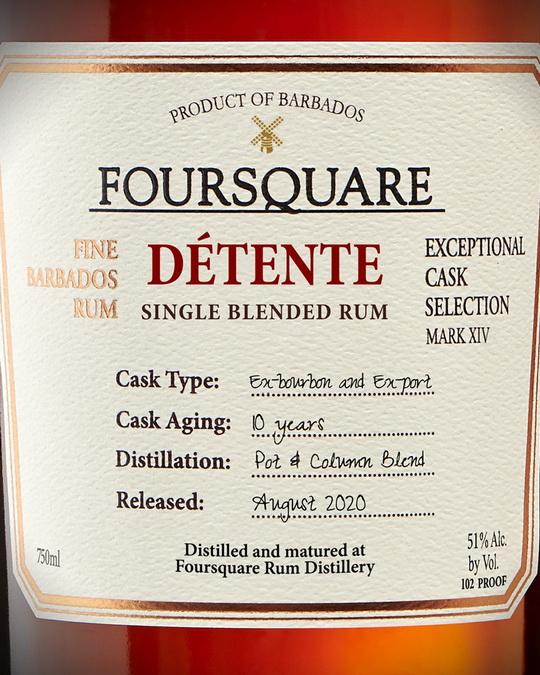 Foursquare Détente Front Label