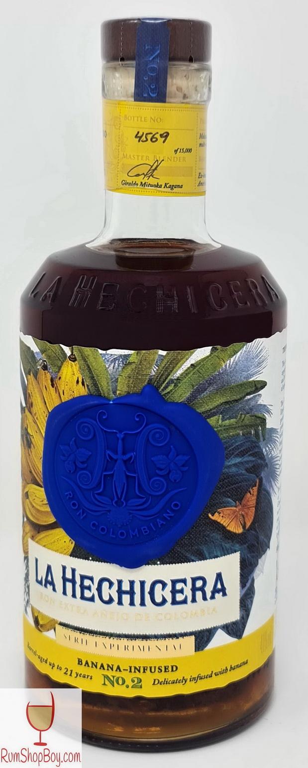 La Hechicera Banana Infused Rum Bottle
