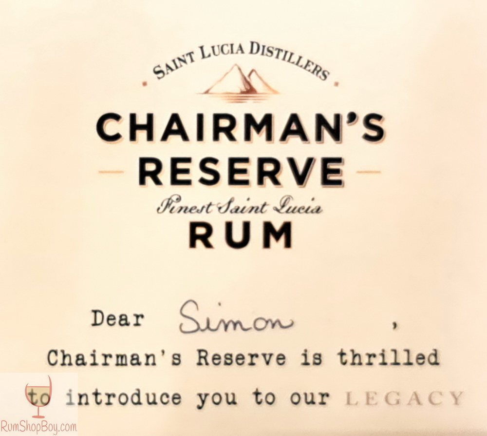 Chairman's Reserve Legacy Promo Box (Label)