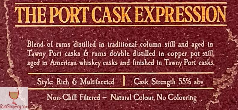 Mount Gay Port Cask Expression Label