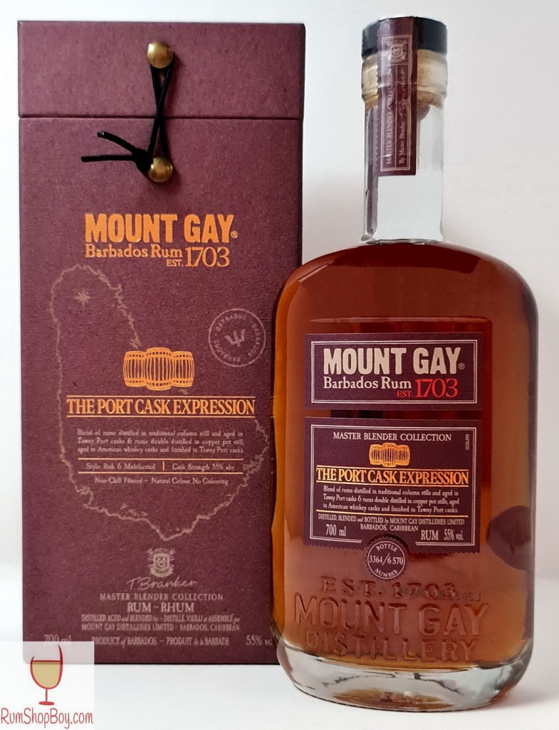 Mount Gay Port Cask Expression Box and Bottle