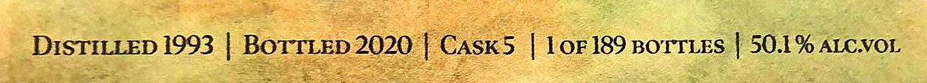 The Duchess Guyana Uitvlugt 1993 27yo Label